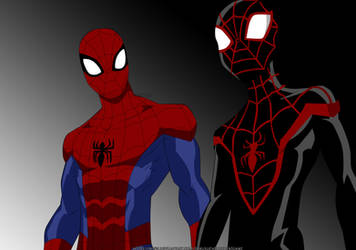 Peter and Miles /Spidey-Ultimate Spider-Man by Dakusuchirushinigami