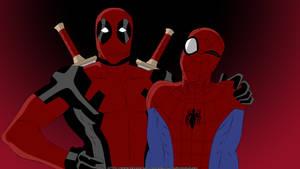 Wade Wilson/Deadpool and Peter Parker/Spidey
