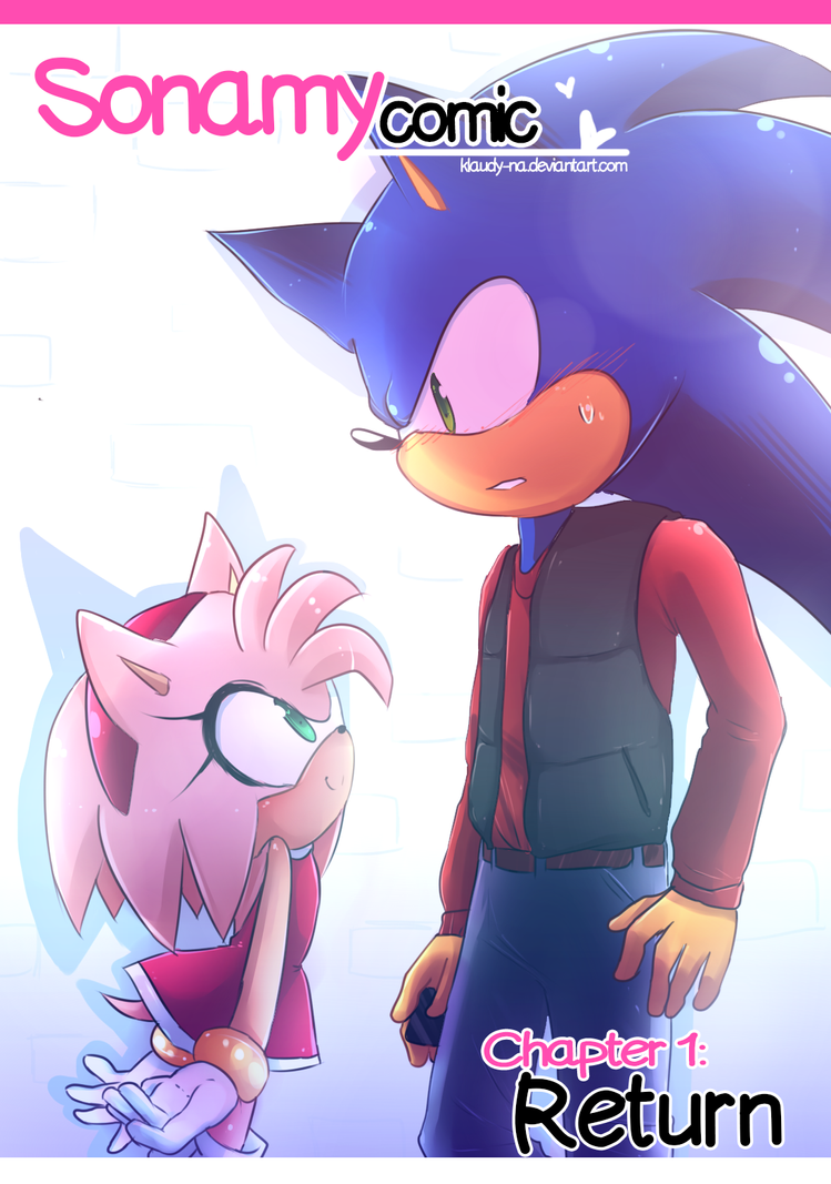COVER: sonamy comic chapter 1: Return by Klaudy-na