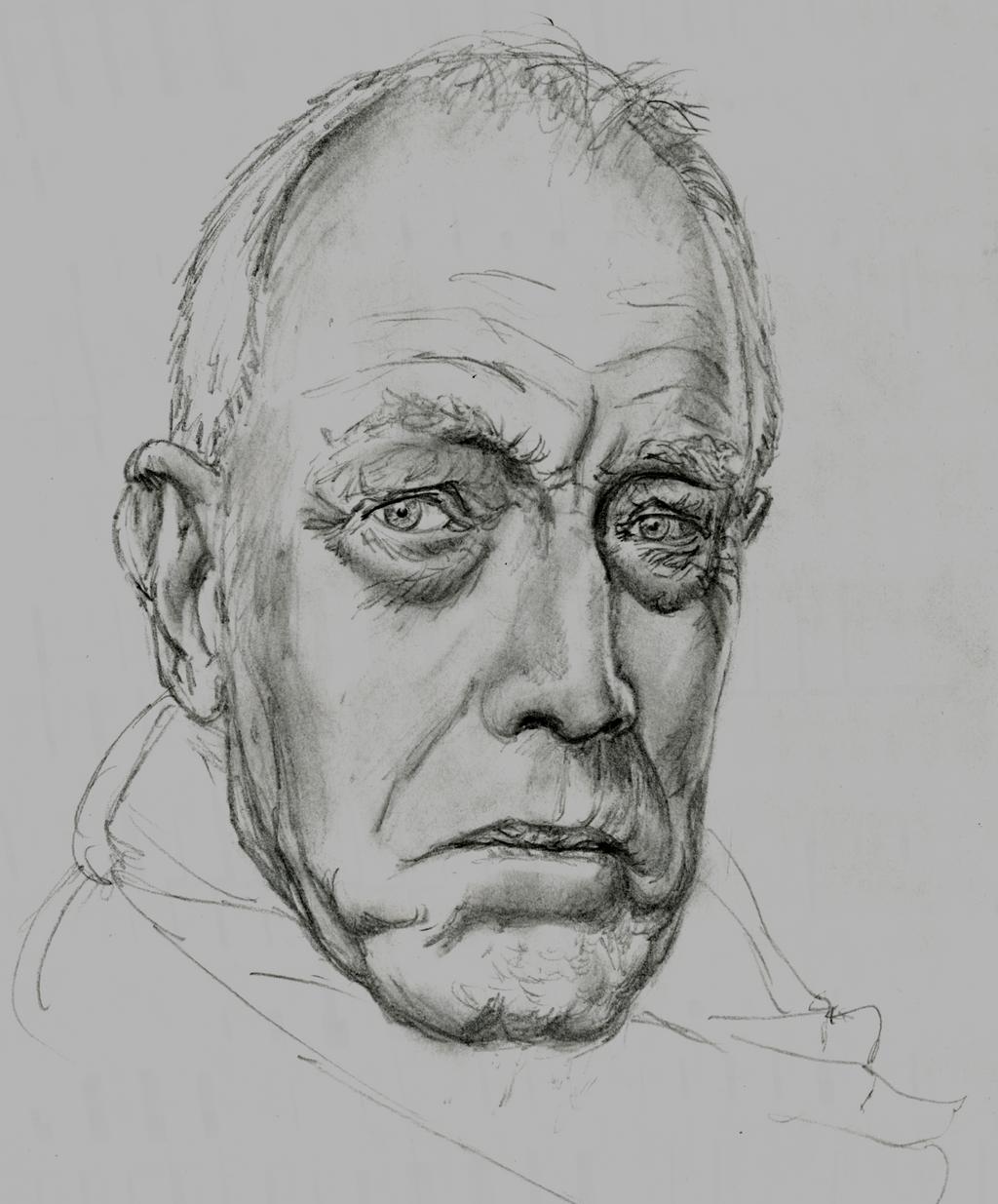 random portrait - Max Von Sydow by hieronymushoefer