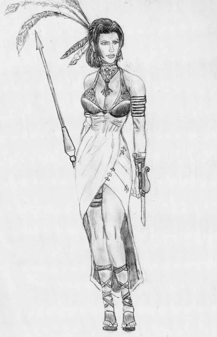 random drawing - one shot RPG character by hieronymushoefer