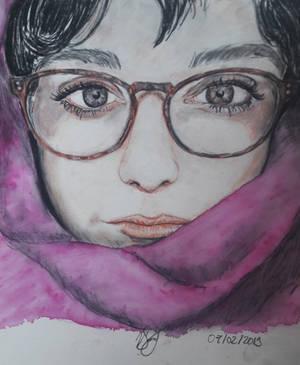 Sous la neige.Under the Snow. Portrait de Jade. by hieronymushoefer