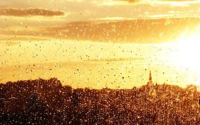 Rainy sunset by wernersbacher