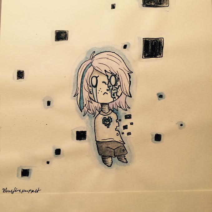 just a glitch. by BlueFirePuppet