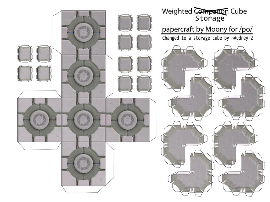 Weighted Storage Cube by Audrey-2 ...  sc 1 st  DeviantArt & Weighted Storage Cube by Audrey-2 on DeviantArt