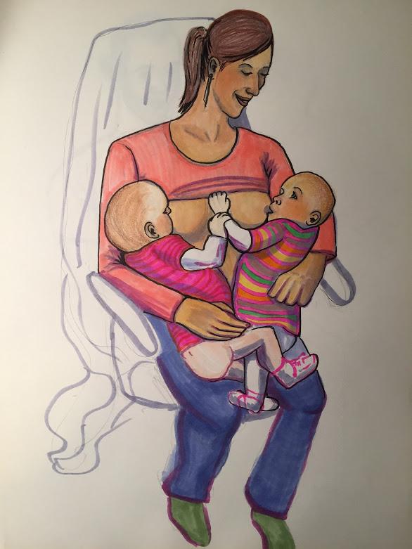 Klara and twins by oiwawoi