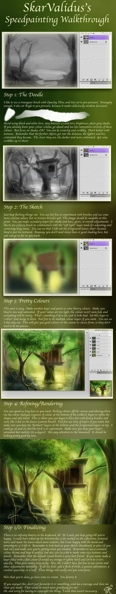 Speedpaint Tutorial - scenery by SkarValidus