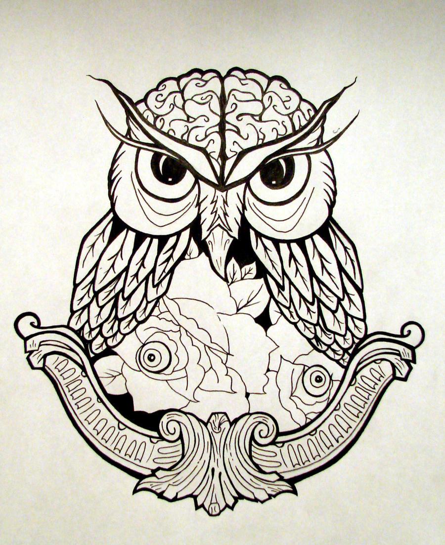 Cool owl drawings - photo#22