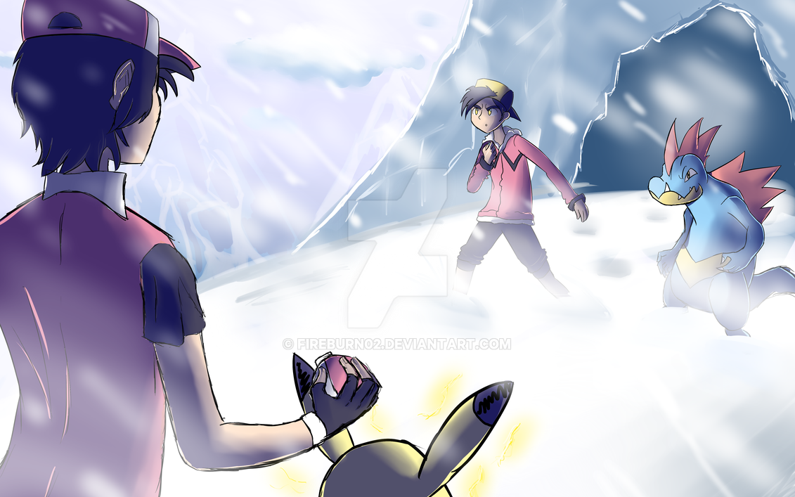 pokemon red vs gold by fireburn02 on deviantart