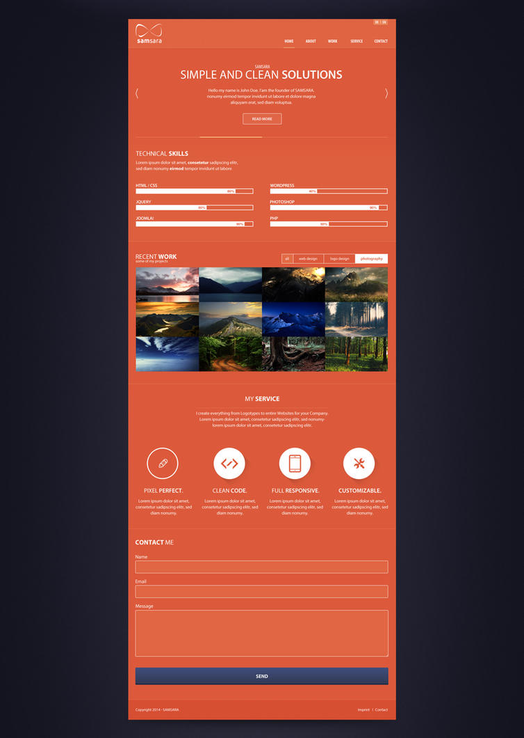Clean One-Page Design by AzRaIL922