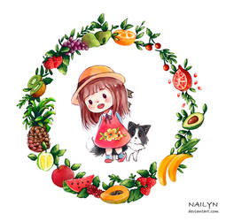 Lia and Me Fruits by NaiLyn