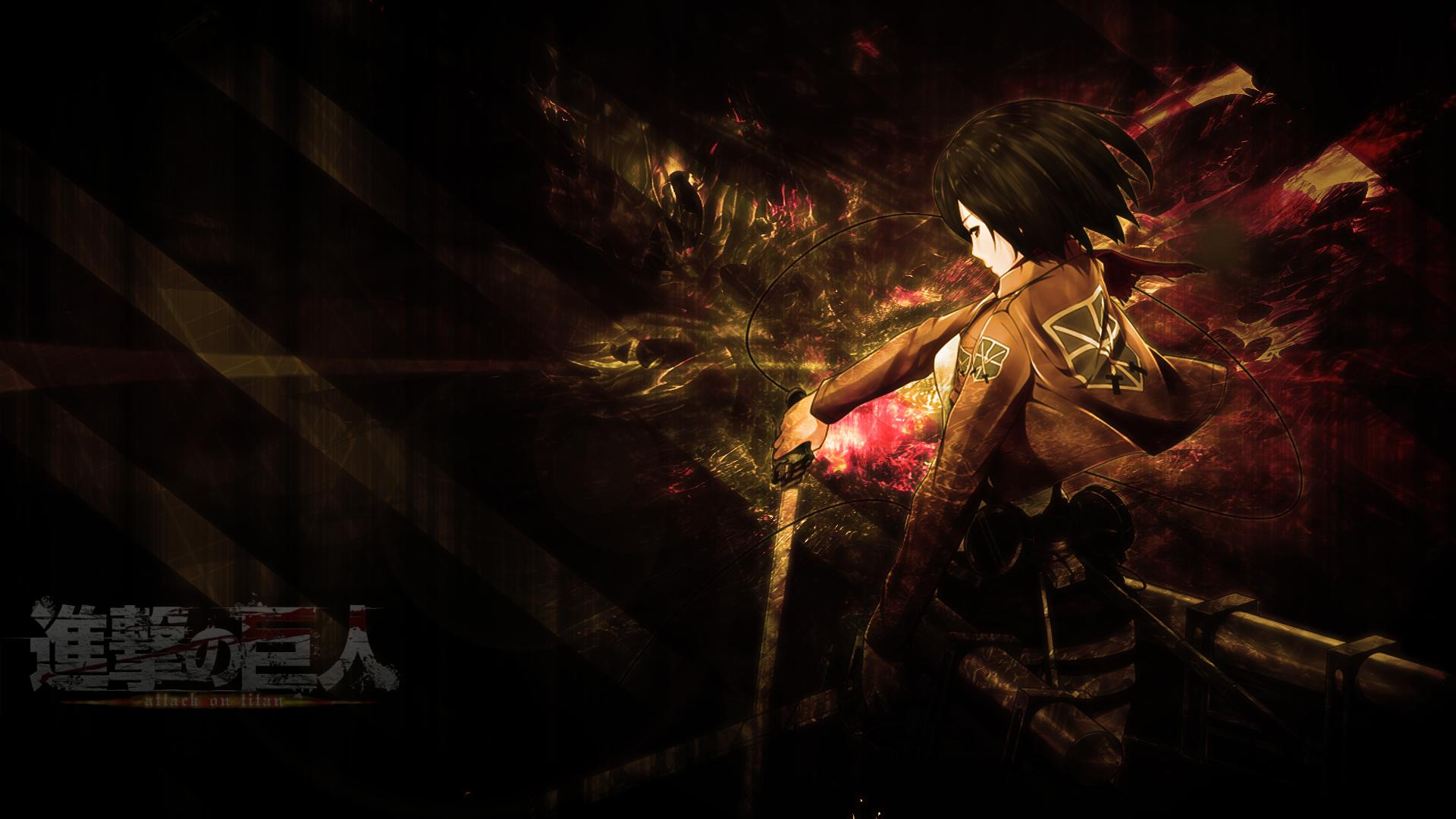 Attack On Titan Mikasa Wallpaper By Skeptec On Deviantart