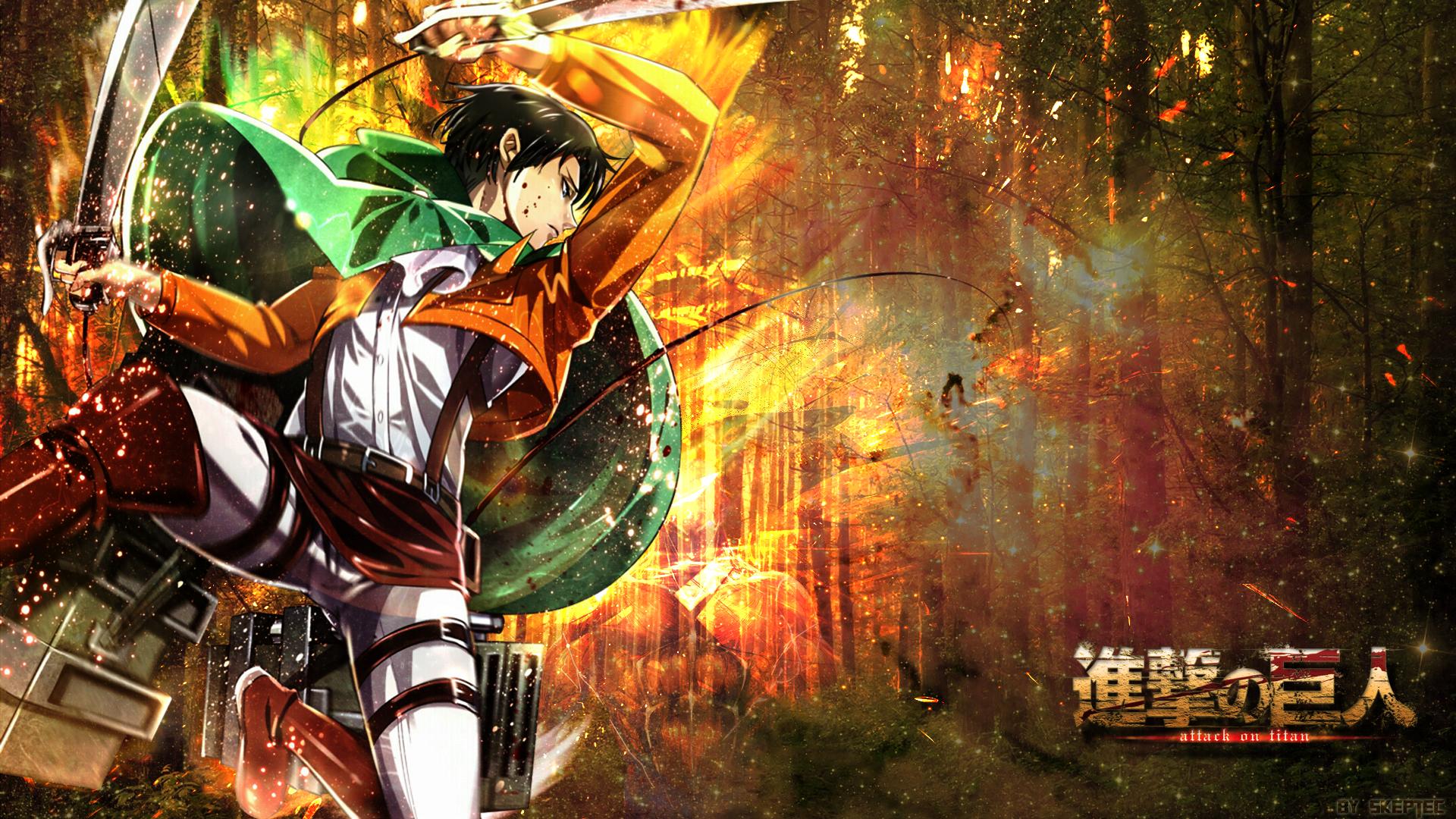 Attack on Titan - Levi Wallpaper - Woodland by skeptec on DeviantArt