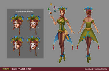 Smite Fan Skin Concept: Jester Nu Wa