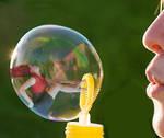 Cat in Bubble