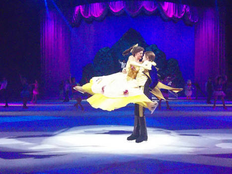 Belle (gold dress) And The Prince