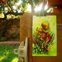 neon cherub by rodluff