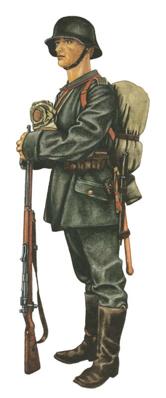 German soldier 1916 Verdun by JozsefSvab