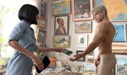 Painter and model, part 11 by achillias-da