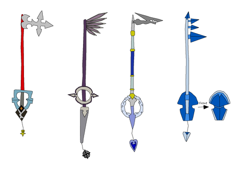 OrganizationXIII Keyblades 1 - 4
