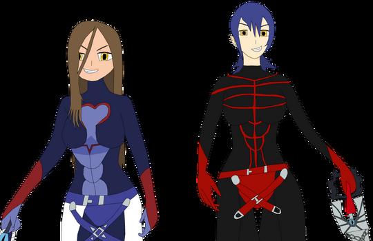 Evil Mina and Evil Aqua
