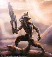 Rocket Raccoon by RoboticMasterMindX