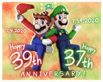 Happy Late-Early Birthday Mario Bros!!