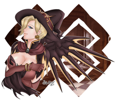 [Commission] Mercy Halloween (by Ukyodragoon)