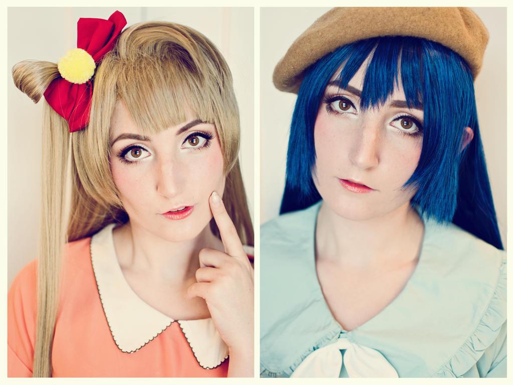 Kotori x Umi Makeup Test! by xRikku-chanx