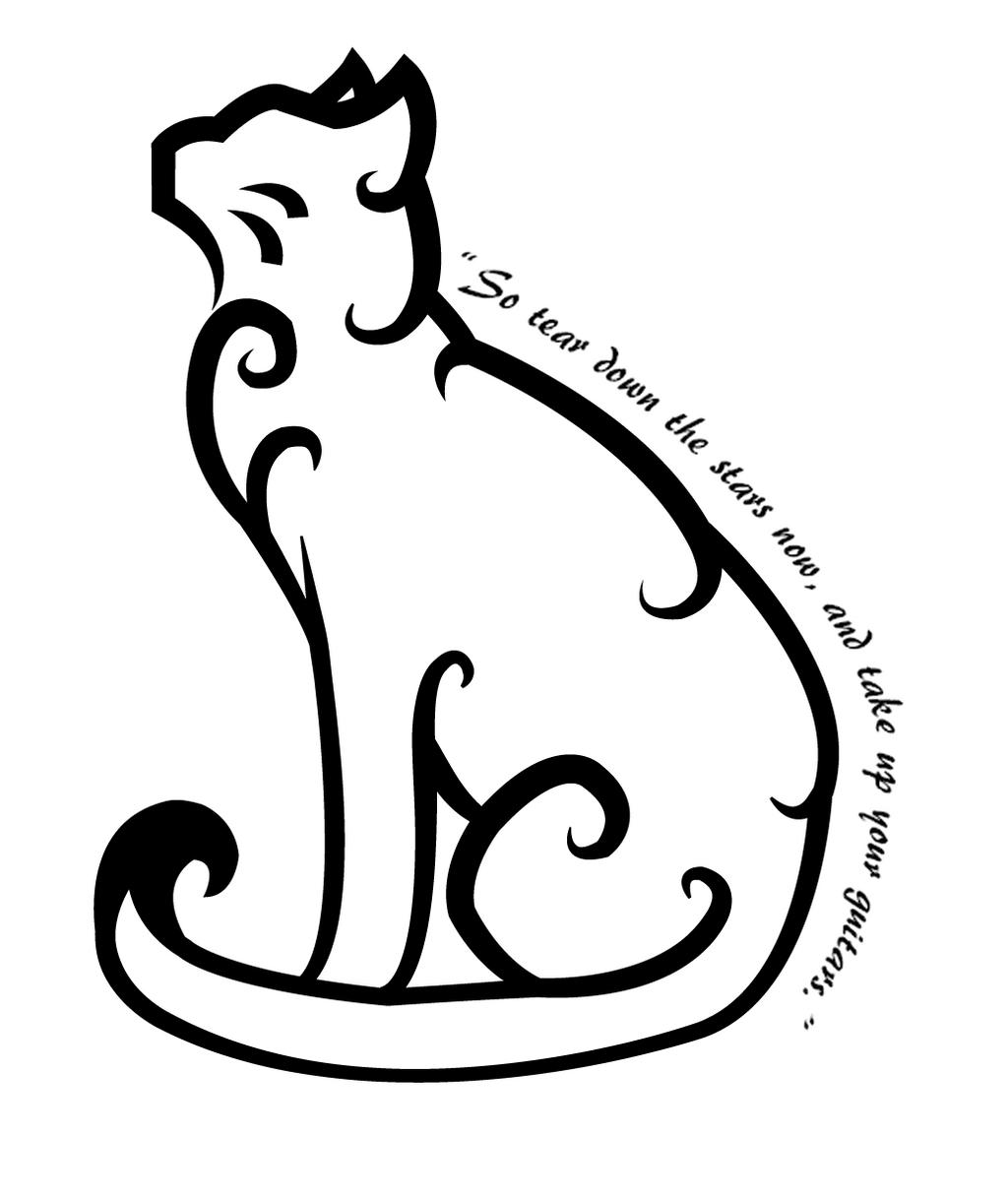 Cat Head Tattoo Design
