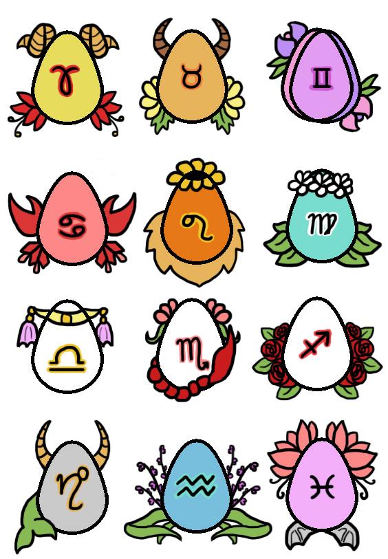 Zodiac Eggs Auction - open by 102vvv