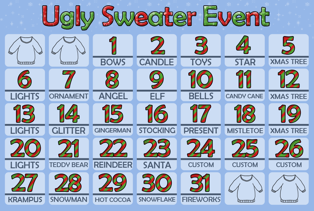 Ugly Sweater Event! 29/31 OPEN by 102vvv