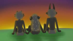 Trio Sunset