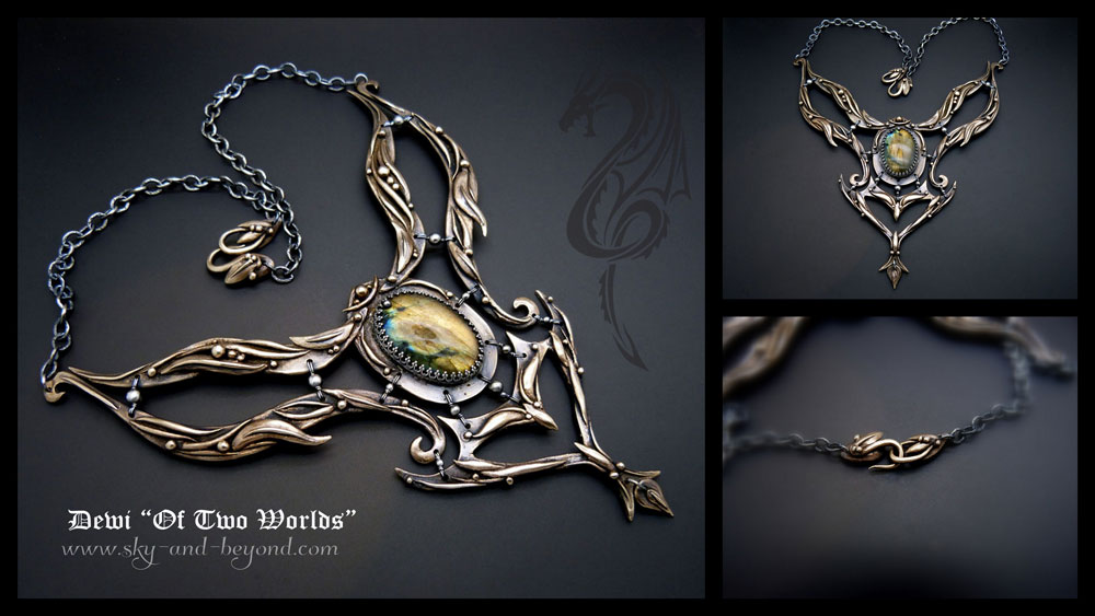 Dewi of the Two Worlds - Dragon Necklace by rodicafrunze