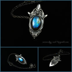 Nothing to Say - silver with Labradorite (pendant)
