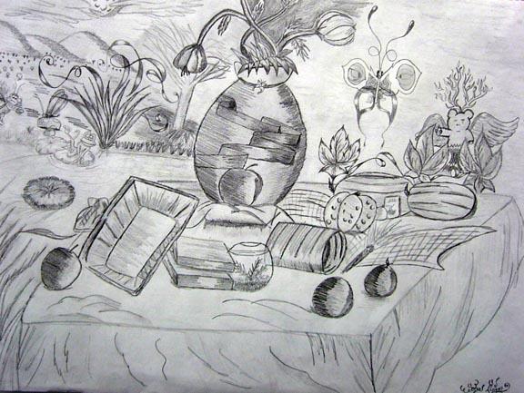 Still life meet cartoons by hedgiee