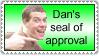 Dan's seal of approval by darkmangachick