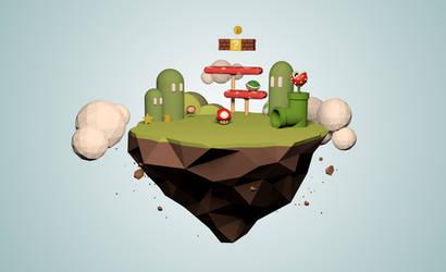 Low-Poly Super Mario Island