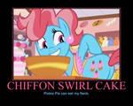 Motivational Chiffon Swirl Cake
