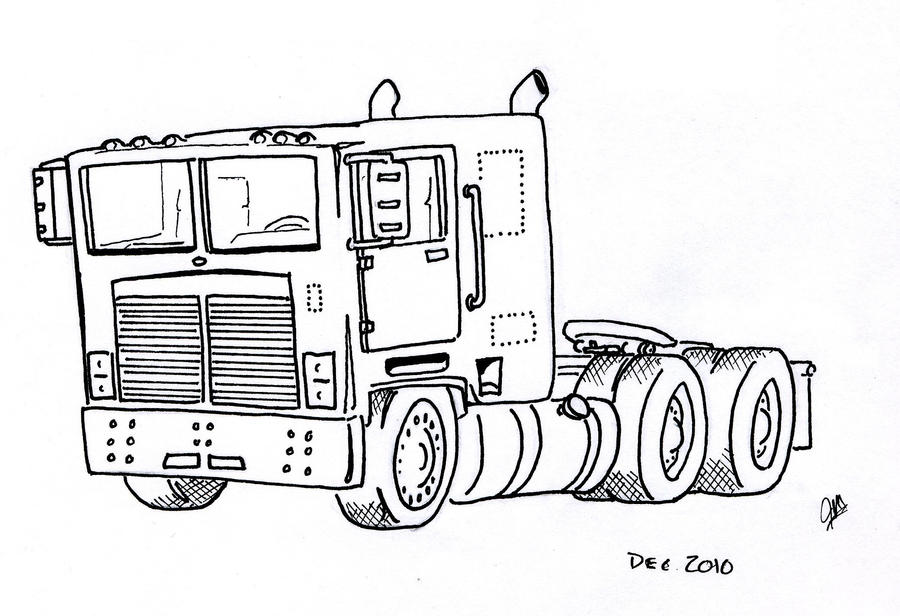 semi truck by chronosfx on deviantart