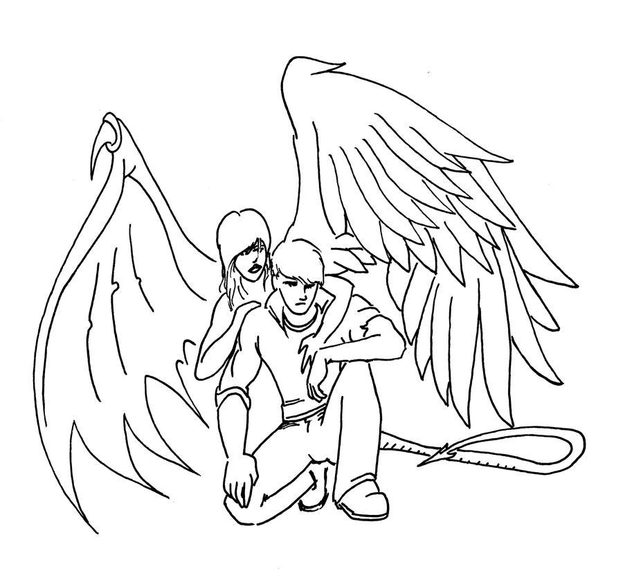 Hybrid Angel-Demon by ChronoSFX on DeviantArt.