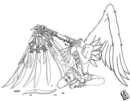 Steampunk Fallen Angel