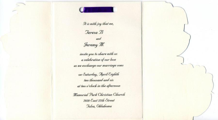 Wedding Invitation Inside By ChronoSFX On DeviantArt