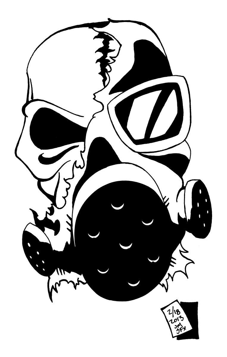gas mask skull by chronosfx on deviantart. Black Bedroom Furniture Sets. Home Design Ideas