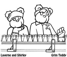 Laverne and Shirley Teddies by ChronoSFX