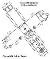 Cargo Van 3d Card template by ChronoSFX