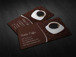 Coffee Cup Business Card by es32