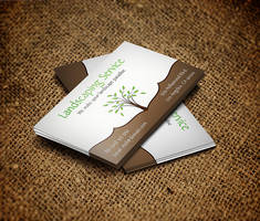 Landscaping Service Business Card by es32