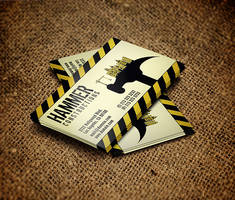Construction Business Card by es32