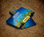 Taxi City at Night Business Card